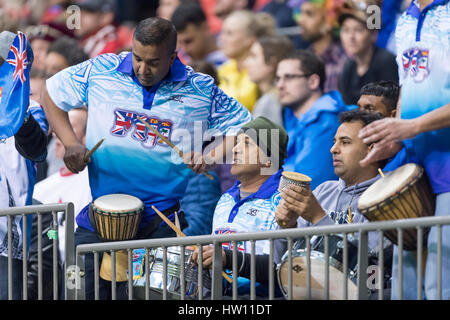 Rugby Sport Fans inside a indoor stadium. - Stock Photo