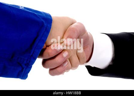 Employer and employee, Arbeitgeber und Arbeitnehmer - Stock Photo