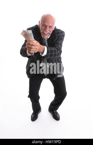 Gl?cklicher pensioner, Glücklicher Rentner - Stock Photo
