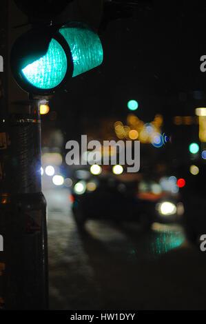 Green traffic light, Grüne Ampel - Stock Photo