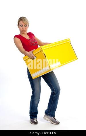 Hard carry, Schwer tragen - Stock Photo