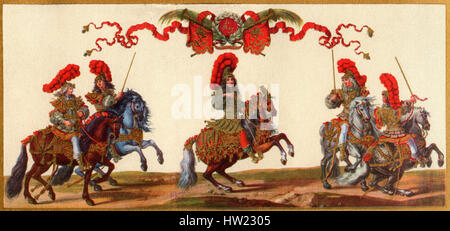 Louis XIV as a Roman emperor, centre, 1638 – 1715, aka Louis the Great or the Sun King. Monarch of the House of - Stock Photo