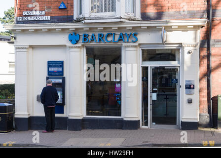 Barclays Bank branch in Llangollen Denbighshire one of the few remaining rural bank branches left open in North - Stock Photo