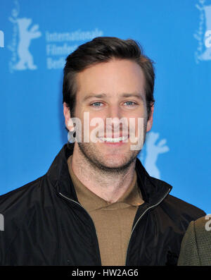 67th Berlin International Film Festival - 'Call Me by Your Name' - Photocall  Featuring: Armie Hammer Where: Berlin, - Stock Photo