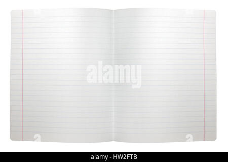 ... Spread Double Sheet Of Open Seamless White Lined Note Paper Background  Texture, Isolated Copy Space  Double Lined Paper