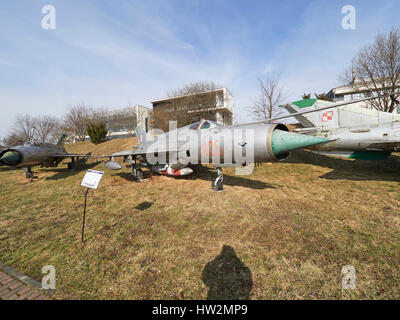 Mig 21R 'Fishbed' at the Polish Aviation Museum Krakow in Poland - Stock Photo