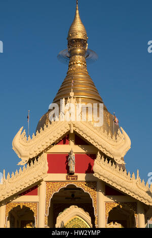 Maha Wizaya Pagoda in Yangon, Yangon Region, Myanmar - Stock Photo