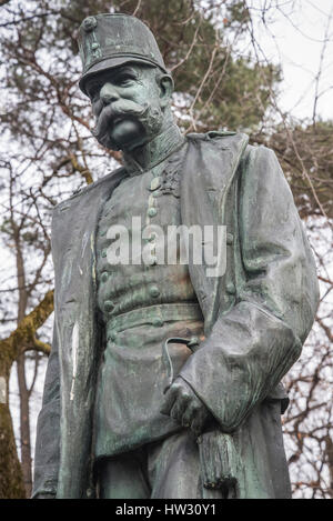 Statue of the late Austrian Emperor Kaiser Franz Josef - Stock Photo