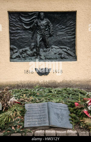 War memorial including the First and Second World War to Austrian soldiers at Bergisel above Innsbruck capital of - Stock Photo