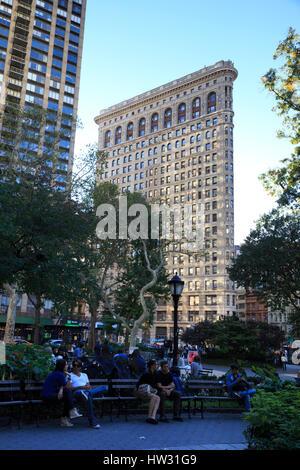 USA, New York, New York City, Manhattan, Madison Square Park - Stock Photo
