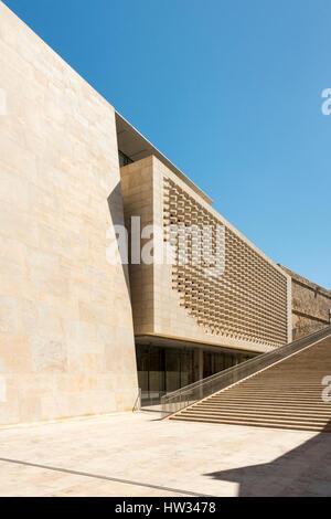 The Renzo Piano designed Parliament Building in Valetta Malta. Valetta will be the European City of culture in 2018 - Stock Photo