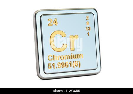 Chromium Cr Chemical Element 3d Rendering Isolated On Black Stock