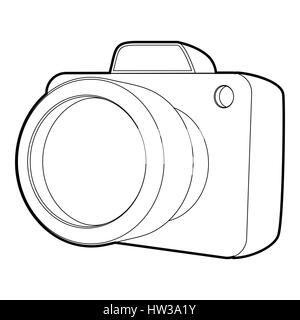 Camera icon, isometric 3d style - Stock Photo