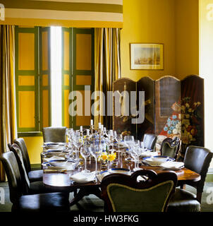 Dining room with screen. - Stock Photo