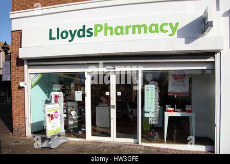 Exterior of a Lloyds pharmacist, chemist shop, pharmacy. - Stock Photo