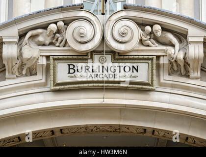 Burlington Arcade, Piccadilly, London, UK. - Stock Photo