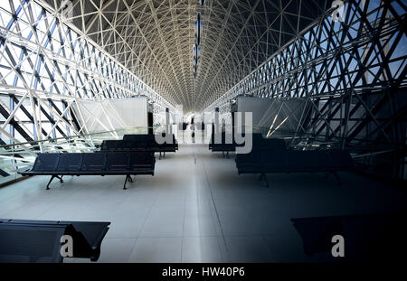 Zagreb, Croatia. 16th Mar, 2017. A new terminal at the Zagreb International Airport Franjo Tudjman is presented - Stock Photo