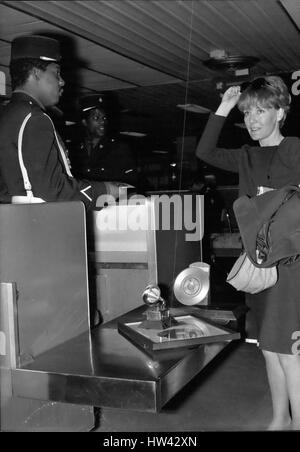 May 19, 1965 - Petula Clark back from America:Petula Clark pictured at Orly Airport as she was displaying her Trophies - Stock Photo