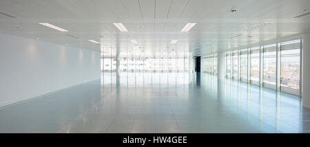 Interior view of 10 Hammersmith Grove, a new office development in London, UK. - Stock Photo