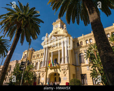 Building monument city hall. Costa del Sol, Malaga. Andalusia southern Spain. Europe - Stock Photo