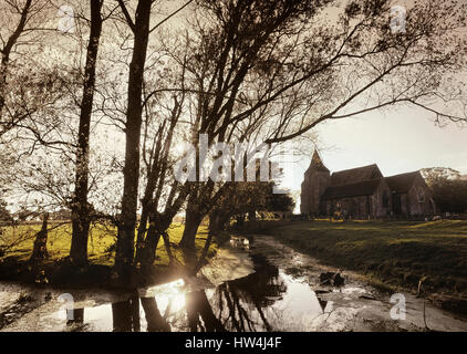 St Clement church in Old Romney. Kent. England. UK - Stock Photo