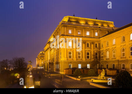 Royal Palace on Castle Hill at evening. Budapest Hungary, Southeast Europe - Stock Photo