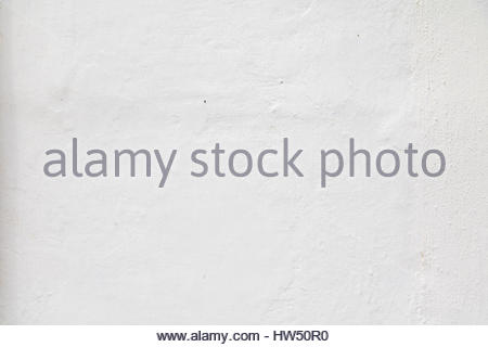 Empty plain textured and structured white wall wallpaper, abstract white background, white wall texture - Stock Photo