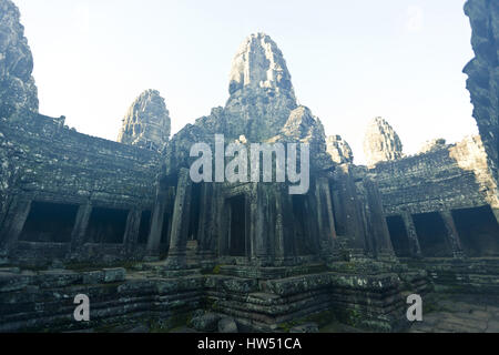 The five towers of Angkor Wat, Cambodia. The world's ...