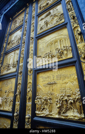 ... Bronze doors of the Baptistry of San Giovanni Florence. Tuscany. Italy - Stock Photo & Florence Baptistry Gates of Paradise East Door Duomo square ... Pezcame.Com