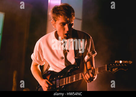 Glass Animals performing at London, Brixton 02 Academy - 16 March 2017 - Stock Photo