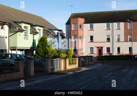 Local authority housing in the Craigmillar district of Einburgh. - Stock Photo