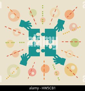 Teamwork. Concept business illustration - Stock Photo