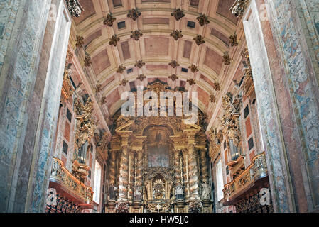 Scenic view of Se Cathedral Porto Portugal - Stock Photo