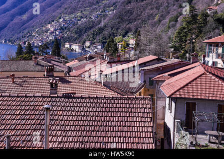 San Mamete is a small village in the municipality of Valsolda, located on Lake Lugano province of Como, Italy - Stock Photo