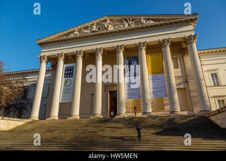 National Museum. Budapest Hungary, Southeast Europe - Stock Photo