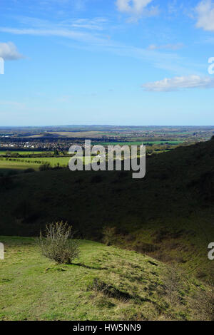 View  over the vale of Aylesbury from Inchcombe Hole - Stock Photo