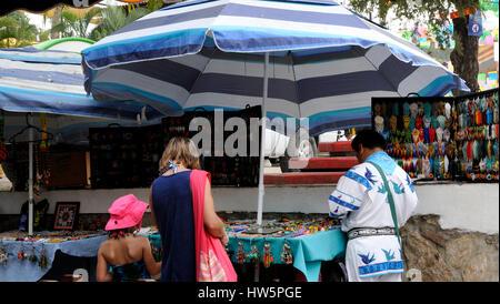 Street scene in Sayulita - Stock Photo
