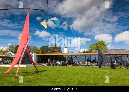 Denmark, Zealand, Humlebaek, Louisiana Museum of Modern Art, sculpture garden - Stock Photo