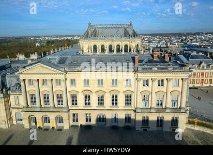 France Yvelines Versailles palace of Versailles listed as World Heritage by UNESCO The Gabriel wing and the chapel - Stock Photo