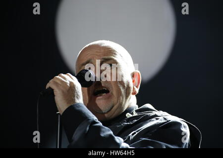 Berlin, Germany, November 9th, 2014: Peter Gabriel performs live on stage during 25th anniversary of the Fall of - Stock Photo