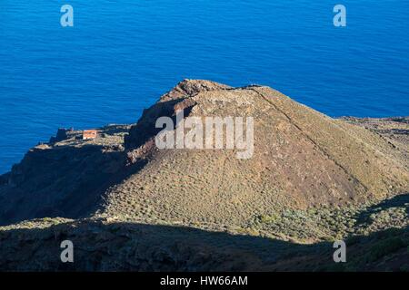 Spain Canary Islands El Hierro island declared a Biosphere Reserve by UNESCO view from La Pena viewpoint over one - Stock Photo