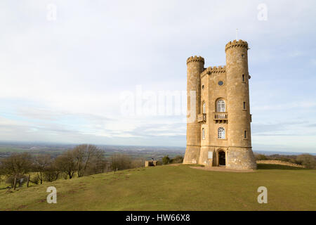 Broadway Tower, Cotswolds, Worcestershire England UK - Stock Photo