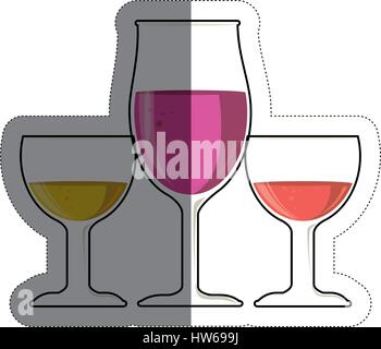 cocktails drinks icon - Stock Photo