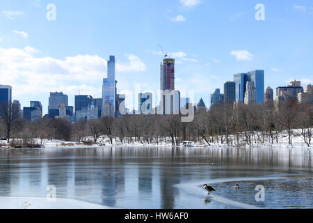 Winter in Central Park, New York, NY - Stock Photo