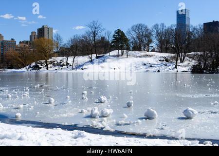 Winter in Central Park, New York, NY - Stock Photo