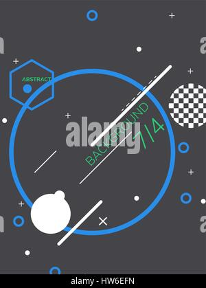 Abstract Geometric Poster - Stock Photo