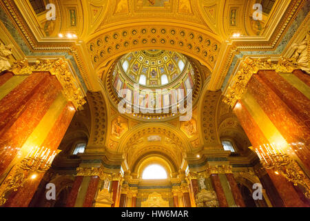 Interior Saint Stephen Basilica Szent Istvan Bazilika. Budapest Hungary, Southeast Europe - Stock Photo