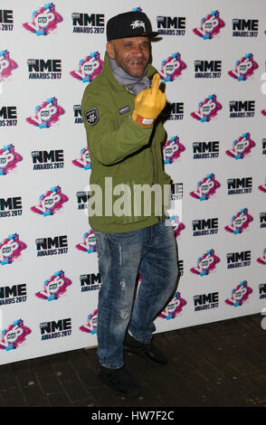 VO5 NME Awards 2017 - Arrivals  Featuring: Goldie Where: London, United Kingdom When: 15 Feb 2017 - Stock Photo