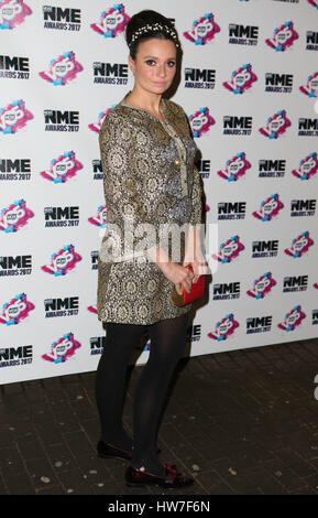 VO5 NME Awards 2017 - Arrivals  Featuring: Gizzi Irskine Where: London, United Kingdom When: 15 Feb 2017 - Stock Photo