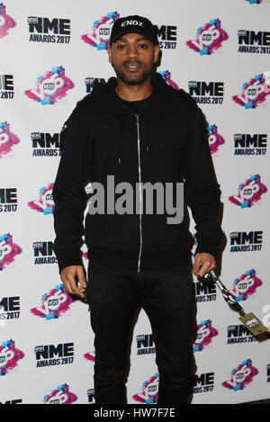 VO5 NME Awards 2017 - Arrivals  Featuring: Kano Where: London, United Kingdom When: 15 Feb 2017 - Stock Photo
